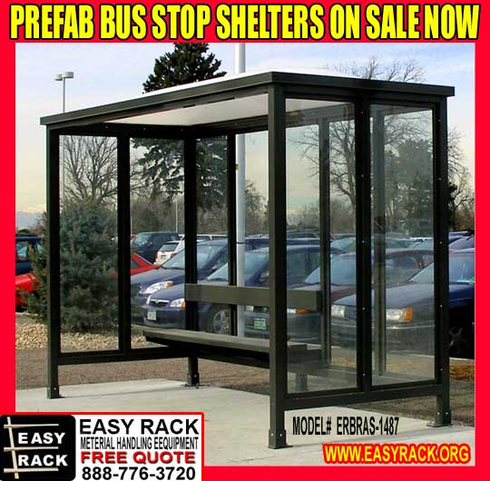 Prefabricated Bus Shelter : Custom bus stop shelters made in the united states