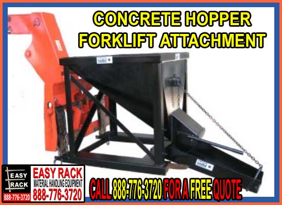 Concrete Hopper Forklift Attachment For Sale