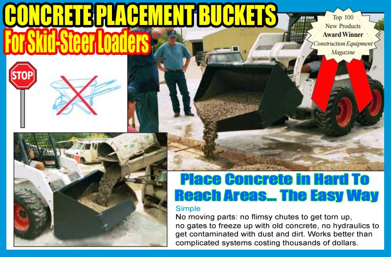 Concrete Bucket Attachment For Skid-Steer Loaders For Sale In Houston, Texas