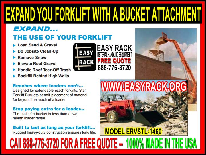 Forklift Bucket Attachments For Sale