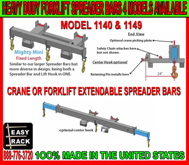 Heavy Duty Crane Or Forklift Spreader Bars For Sale