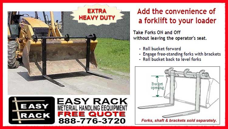 Front End Loader Bucket Forks For Sale
