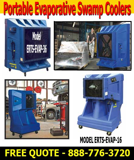 Industrial Evaporative Cooling Systems : Commercial grade portable swamp cooler