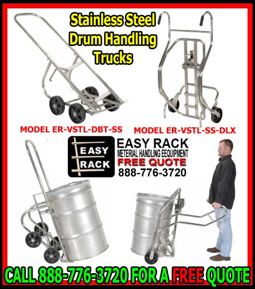 Stainless Steel Drum Handling Equipment Truck