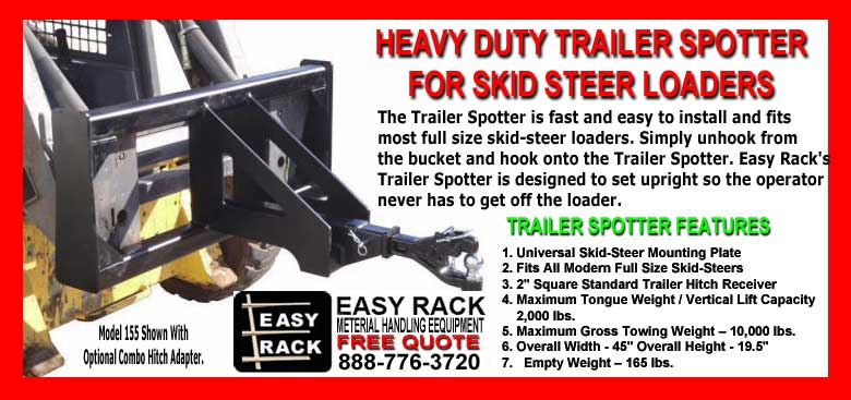 Heavy Duty Trailer Spotter For Skid Steer Loaders - Material