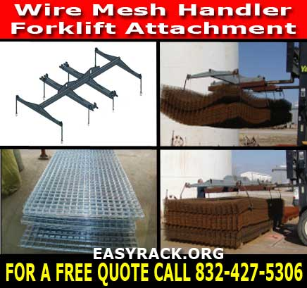 Wire Mesh Handler Forklift Attachments Material Handling