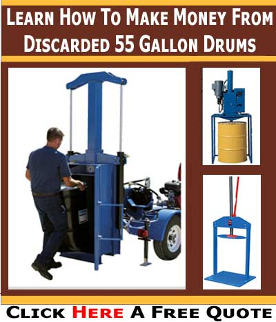 Make Money From Your Unwanted 55 Gallon Drums With Easy Rack's Drum Crushers & Compactors