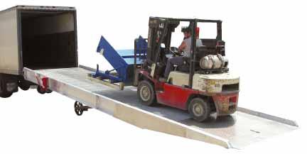 Aluminum Heavy Duty Truck Trailer Loading Ramps with Aluminum Gr