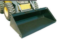 High Capacity Snow & Light Materials Buckets with Bolt-on-Blade for Skid-Steer Loaders