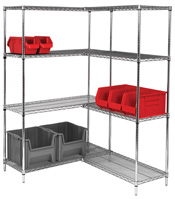 "Steel Chrome Shelving Starter Kit 54""H x 14""W"
