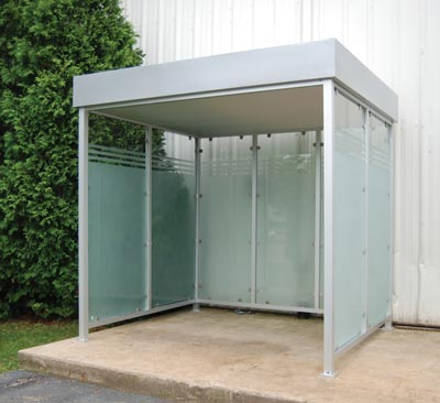 Deluxe Smoking Shelter Prefabricated & Ready To Ship
