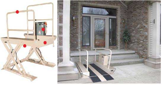 Residential Wheelchair Lift : Safety equipment material handling product