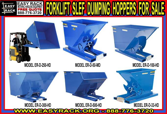 Heavy Duty Steel Forklift Self Dumping Hoppers Dealer