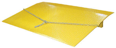 """Steel Truck Dockplates (48""""Width / 1/2"""" Plate Thickness) The diamond pattern on the surface of the metal helps prevent water, oil, debris, and snow from piling up on the plate."""