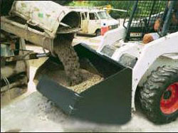 Concrete Placement Buckets for Skid-Steer Loader