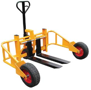 Heavy duty all terrain pallet jack