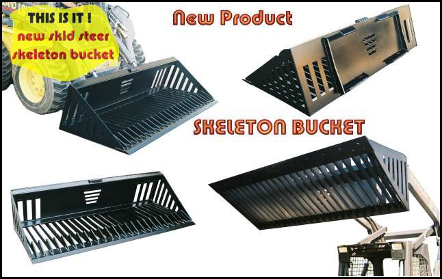 Skeleton buckets move debris away much more efficiently than standard backhoes and crane buckets