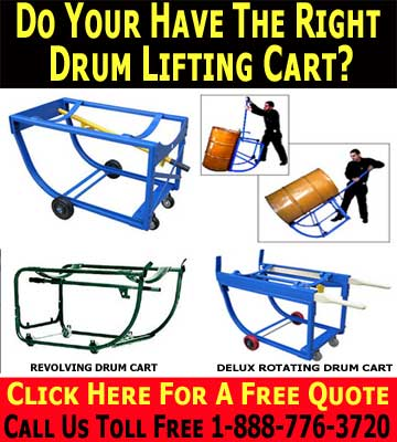 Drum Carts Are Egronomic Drum Lifting Equipment