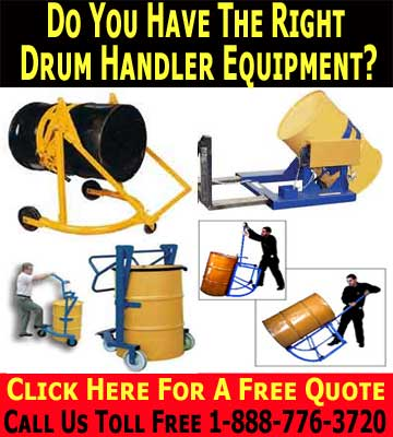 Having The Right Drum Handler Equipment Will Save You Time & Money!