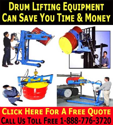 Ergonominic Drum Lifting Equipment Can Save You Money While Protecting Your Employee's