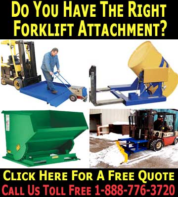 Commercial Grade Fork Truck Attachments