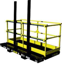 Forklift work platforms are used both indoors and outdoors for a variety of tasks, many of which can only be accessed with a smaller platform designed to fit into hard-to-reach places.