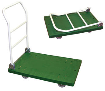 Plastic Platform Trucks with Fold Down Handles