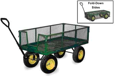 One of the most popular designs of lawn and deluxe garden carts available is a simple platform truck with 4 pneumatic wheels..heavy duty garden carts & rolling metal garden utility trucks