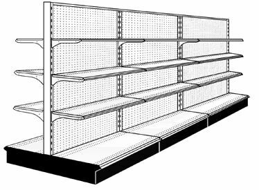New Aisle display retail Gondola shelving Starter Section - 14