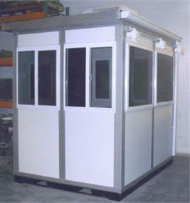 The main benefit of a prefabricated ticket booth kiosk is that it can be delivered to the site in complete condition, ready for use.
