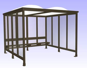 Easy Rack shelters have been used as smoking shelters, bus stop shelters, valet shelters, equipment shelters, turnstile shelters, transit bus shelters