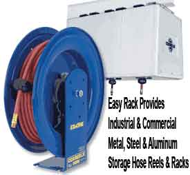 An industrial hose reel will eliminate the risk of injury and damage to heavy industrial cords and pressure hoses with large diameters.  Commercial hose reels come in different sizes based upon the size and nature of the hose or cord they are being used for.