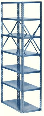 10 Shelf Open Industrial Steel Shelving Units 18 Gauge