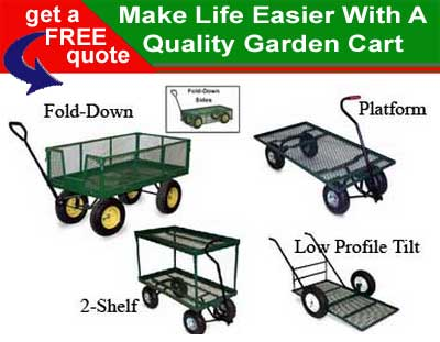 Life Made Easier With A Quality Lawn & Garden Cart - Wagon