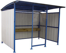 Smokers Shelter. From bus stop shelters through to ticket booths and security shelters, the sheer range of steel shelters and metal shelters available from Easy Rack is intended to make furnishing your business as easy as possible.