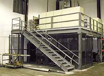 A mezzanine storage platform is a great way of creating usable space without impacting on the amount of available room at ground level.