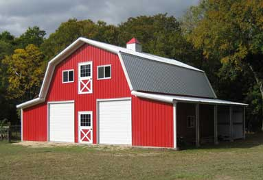 Steel Modular Prefabricated Barns, Also Pre-Built Buildings