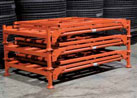 Load Nesters® are portable stack racks designed to protect products from damage, consolidate storage space