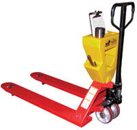 Pallet Jack Caddy on Pallet Truck
