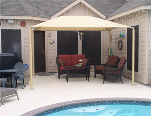 Patio Canopies Are Built To Fit Most Standard Sized Patios
