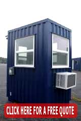 Prefabricated Guard Shacks Installed, Designed & Manufactured In The USA