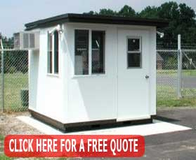 Portable Prefabricated Guard Shacks Installed, Designed & Manufactured In US