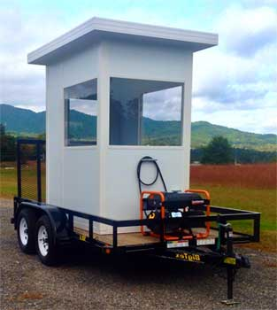 Mobile & Portable Prefabricated Modular Security Guard Shacks