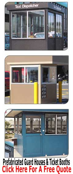Modular Pre-Fabricated Security Guard Shacks & Ticket Booths