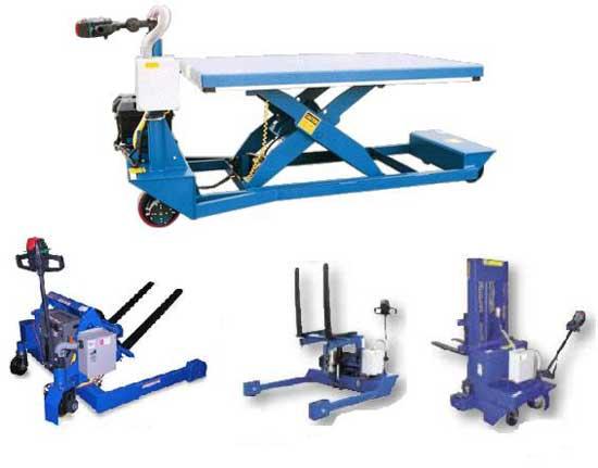 Ergonomic Portable Lifts : Ergonomic scissor lift tables material handling
