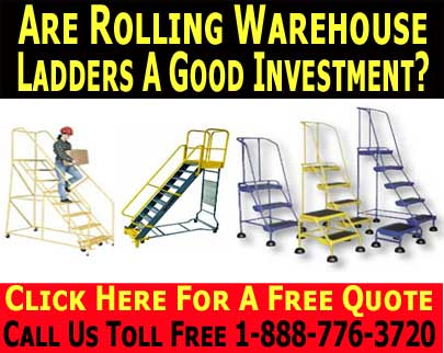 Industrial & Commercial Warehouse Rolling Ladder Discount Sales & Accessories