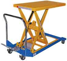 Powered & manual scissor carts