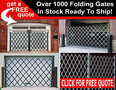 Folding Security Gates Over 1000 Prefab Gates Instock & Ready To Ship