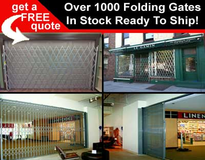 Folding Security Gates On Sale With Over 1000 Scissor Gate Prefabricated & Ready To Ship