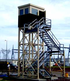 Bullet Proof Modular Prefabricated Prison Security Guard Towers